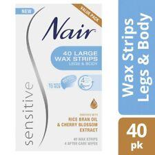 Nair Sensitive Wax Strips Large 40 pack