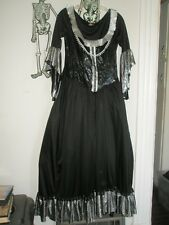 Halloween Thy Evil Court by Disguise Black Dress & Mask Gothic Costume Size M L