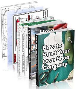 Shoe Design /Production, PRO-PACK : 2 shoemaking books plus 8 paper tools