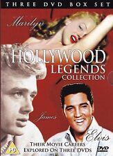 Hollywood Legends Collection - ELVIS - MARILYN MONROE - JAMES DEAN - 3 x DVDs