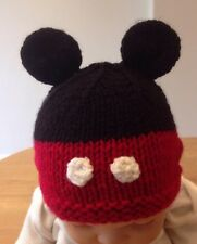 Hand Knitted Baby Mickey  Mouse Inspired Hat
