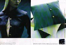 Publicité Advertising 2001 (2 pages) Meuble Objet Textile Ligne Roset
