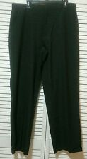 NEW! Calvin Klein Black Flat Front Dress Pants Trousers 36/32