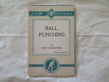 BALL PUNCHING TOM CARPENTER LONDON c1900s 69 Pages 20 Pics ATHLETIC PUBLICATIONS