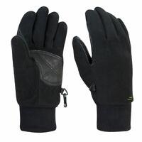 F-Lite Fleece Handschuh Waterproof schwarz Ledereinsätze wind- wasserdicht NEU