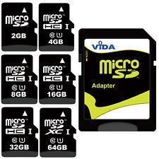 Velocità Micro SD SDHC Scheda di Memoria con adattatore Per Samsung Cellulare