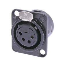 Neutrik NC4FD-L-BAG-1 XLR 4 Pin Female, Panel Mount - Solder - Black/Silver 1123