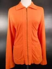 Warm Women's Size 1 Zenergy by Chico's Orange Long Sleeve Zipper Warm-up Jacket
