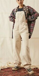 BDG Ecru Corduroy Dungarees Overalls BNWT Size Xs RRP £79 Urban Outfitters
