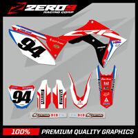 Custom MX Graphics Kit: HONDA CR CRF Motocross Graphics 125-450 / ROCZEN 19 BLU