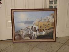 "SAM PARK Original Oil Painting Canvas 21""x24"" Signed Greece"