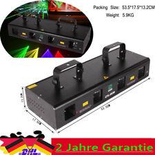 7CH DMX512 RGPY 4lens 460mW DMX DJ Party Stadiums Disco Laser Licht Show Bar DE