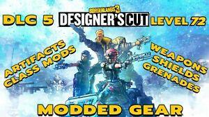 XBox PlayStation Stadia PC Borderlands 3 DESIGNER'S CUT Arms Race Modded Gear