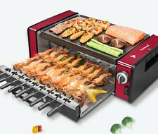 Electric smoke less, non-stick indoor, Grill, kebab, Auto turning skewers BBQ