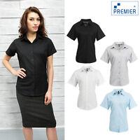 Premier Women's Signature Oxford Short Sleeve Shirt (PR336) - Formal Office Wear