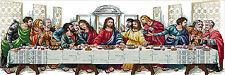"New Stamped Cross Stitch Kit ""Last Supper"" 34""X13"" Jesus design"