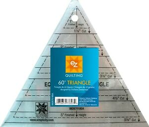60 DEGREE TRIANGLE QUILTING TEMPLATE - MULTI SIZE BY EZ SIMPLICITY - PATCHWORK