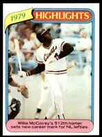 1980 Topps Willie McCovey San Francisco Giants #2