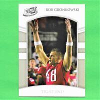 2010 Press Pass PE Rob Gronkowski Rookie Patriots RC Card #21