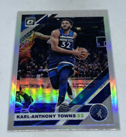 2019 20 DONRUSS OPTIC SILVER PRIZM HOLO #131 KARL-ANTHONY TOWNS TIMBERWOLVES