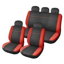 Housse siege de voiture Harmonie couleur noir rouge compatible airbags 9 pieces