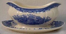 VILLEROY & BOCH china BURGENLAND BLUE (brown stamp) pattern Gravy Boat
