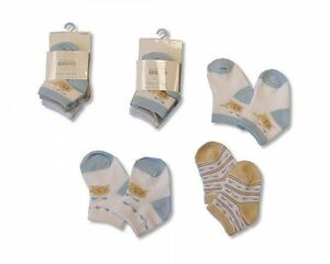 Baby Socks Boys Cotton Rich - 3 pairs - 2102