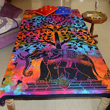 Tree of Life Bed sheet Hippie Indian Bedspread Gypsy Bohemian Ethnic Table Cloth