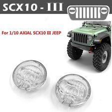 Lámpara Lente Faros de simulación Cubierta Estuche para 1/10 AXIAL SCX10 Jeep Rc Coche III