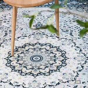 Floor Rugs Teal Blue Traditional Area Rug Persian Lounges Carpet Mat 160x230cm