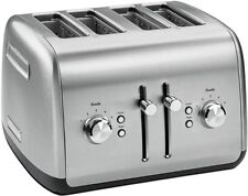 KitchenAid All Metal Polished Stainless Steel RKMT4115SS 4 Slice Toaster  EXTWide