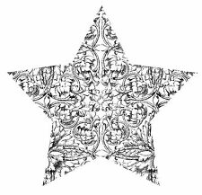 Unmounted Rubber Stamp Etched Star