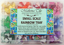Around 625 piece Rainbow Tray of small scale Mosaic GlassTiles by Makena Tile