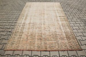 """Oushak Rugs 5'9""""x9'4"""" Handwoven Vintage Rugs 286x178 cm Medallion Faded Rug 2302"""