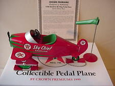 TEXACO 1940 GENDRON AIR KING METAL PEDAL AIRPLANE BANK + WIND SOCK NICE
