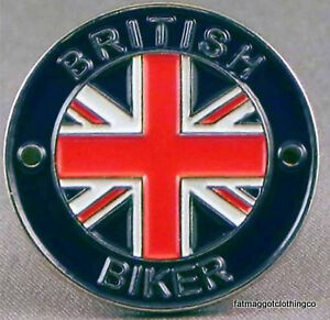 British Biker / Union Jack Pin Badge Enamel
