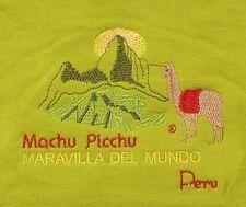 Peru T-Shirt grün hellgrün, Gr.104*110: Alpaka / Lama + Machu Picchu,Anden, Inka