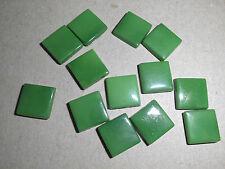 10 carrés plat en verre 10x10mm vert à coller ou sertir
