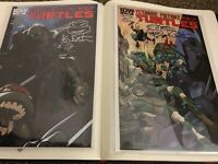 TMNT IDW 1st Series #11 #12 SIGNED KEVIN EASTMAN VARIANT LOT 1st Print Sketched