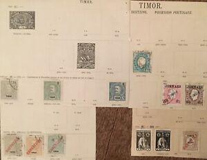 Timor Portugiesische Besitzung Konvolut uralte Briefmarken aus Nachlass