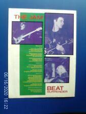 More details for the jam - beat surrender - paul weller    - poster 1980s original