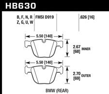 Hawk Disc Brake Pad Rear for BMW 535i, 535i GT, 535i GT  / HB630U.626