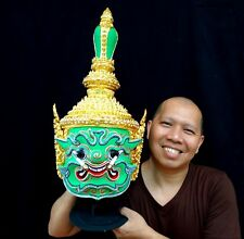 Set 7 Mask Khon Thai Handmade Ramayana Art Home Decor Different Collectible New