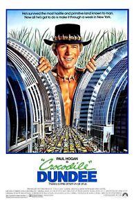"""Crocodile Dundee movie poster  - 11"""" x 17"""" - Paul Hogan"""