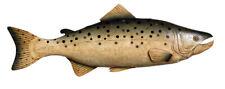 Chinook Coho Salmon Fish Metal Replica Sportfishing Trophy Mount Trade Sign New