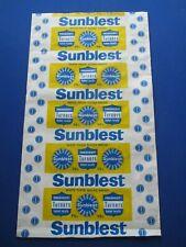 Sunblest Bread - UNUSED wax paper wrapper  c1966 Turners Bakery Nottingham