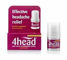 4head Headache & Migraine Relief Stick Cooling No Need for Pills Convenient 3.6g