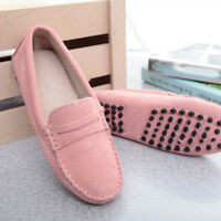 New Women's Loafers Suede Leather Driving Shoes Moccasins Peas Lazy Casual Flats
