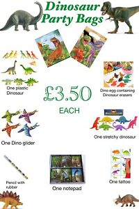 Pre-filled Boys Dinosaur Party Gift Bags Birthday Christmas