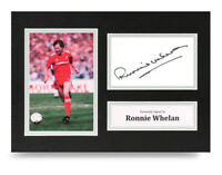 Ronnie Whelan Signed A4 Photo Liverpool Autograph Display Memorabilia + COA